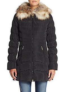 Laundry by Shelli Segal Faux Fur-Trim Puffer Coat