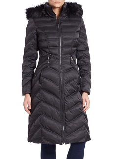 LAUNDRY BY SHELLI SEGAL Faux Fur-Trimmed Down Puffer Jacket