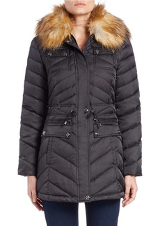 LAUNDRY BY SHELLI SEGAL Faux Fur-Trimmed Parka