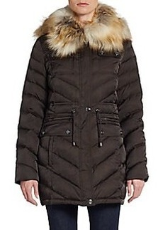 Laundry by Shelli Segal Faux-Fur Trimmed Puffer Jacket