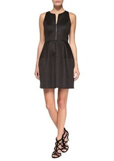 Laundry by Shelli Segal Fit-and-Flare Snake-Print Scuba Dress