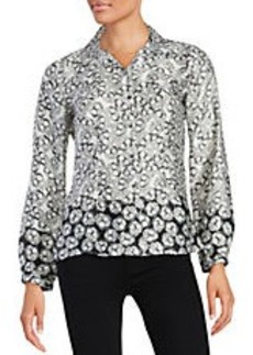 LAUNDRY BY SHELLI SEGAL Floral Button-Front Shirt