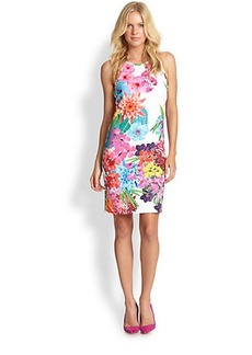 Laundry by Shelli Segal Floral Neoprene Sheath