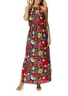 LAUNDRY BY SHELLI SEGAL Floral Print Blouson Maxi Dress