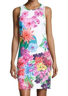 Laundry by Shelli Segal Floral-Print Scuba Jersey Dress