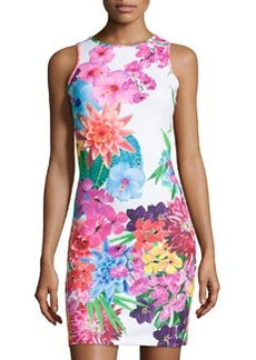 Laundry by Shelli Segal Floral Tank Dress, Rose/Violet/Multi
