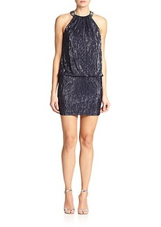 Laundry by Shelli Segal Foil Jersey Blouson Dress