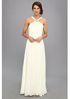 Laundry by Shelli Segal Gathered Bodice Shimmer Gown