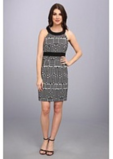 Laundry by Shelli Segal Geo Print Sleeveless Dress
