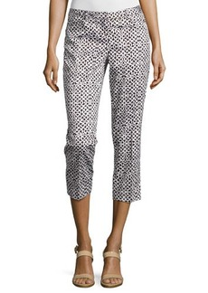 Laundry by Shelli Segal Geo-Print Slim-Fit Capri Pants