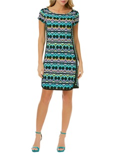 LAUNDRY BY SHELLI SEGAL Geo Stripe T-Shirt Dress