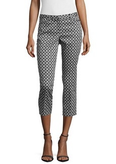 Laundry by Shelli Segal Geometric-Print Slim-Fit Cropped Pants