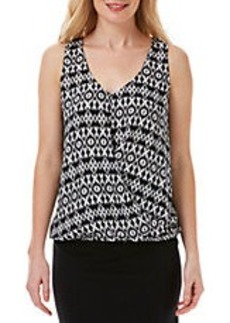 LAUNDRY BY SHELLI SEGAL Geometry Draped Top