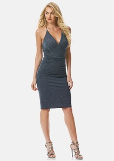 Laundry by Shelli Segal Glitter Jersey Racerback Body-Con Dress