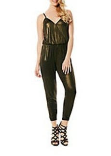 LAUNDRY BY SHELLI SEGAL Golden Sleeveless Jumpsuit