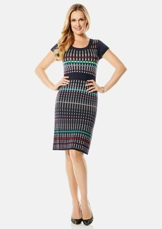 Laundry by Shelli Segal Graphic Jacquard Sweater Dress