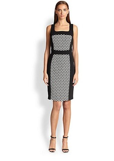 Laundry by Shelli Segal Graphic Paneled Dress