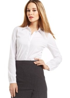 Laundry by Shelli Segal Hidden-Placket Button-Up Shirt