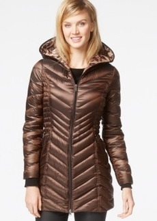 Laundry by Shelli Segal Hooded Down Packable Puffer Coat