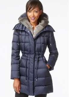 Laundry by Shelli Segal Hooded Faux-Fur-Trim Puffer Down Coat