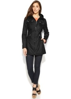 Laundry by Shelli Segal Hooded Layered-Look Utility Jacket