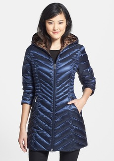 Laundry by Shelli Segal Hooded Packable Down Coat