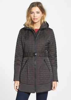 Laundry by Shelli Segal Hooded Quilted Jacket (Regular & Petite)