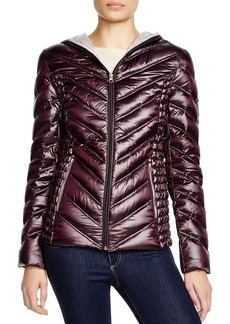 Laundry by Shelli Segal Hooded Short Packable Puffer Jacket