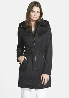 Laundry by Shelli Segal Hooded Soft Shell Anorak with Inset Vest