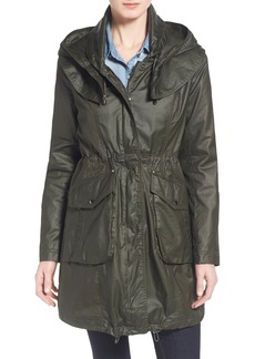 Laundry by Shelli Segal Hooded Waxed Cotton Coat