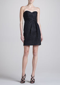 Laundry by Shelli Segal Houndstooth Jacquard Strapless Dress
