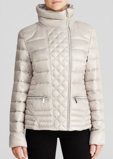 Laundry by Shelli Segal Jacket - Quilted Asymmetric Moto Lightweight