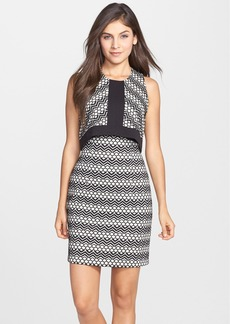 Laundry by Shelli Segal Jacquard Sheath Dress