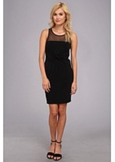 Laundry by Shelli Segal Jersey & Illusion Twist Front Sleeveless Dress