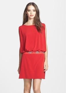 Laundry by Shelli Segal Jersey Blouson Dress with Back Keyhole