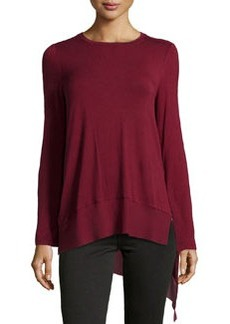 Laundry by Shelli Segal Jersey High-Low Top, Deep Garnet