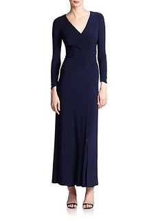 Laundry by Shelli Segal Jersey Wrap Gown