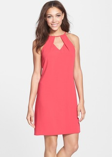 Laundry by Shelli Segal Keyhole Crepe Shift Dress
