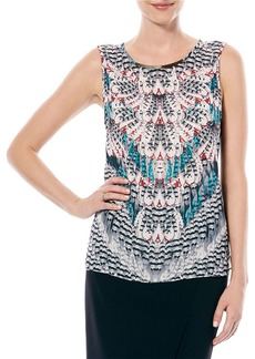 LAUNDRY BY SHELLI SEGAL Knit-Back Hi-Lo Top