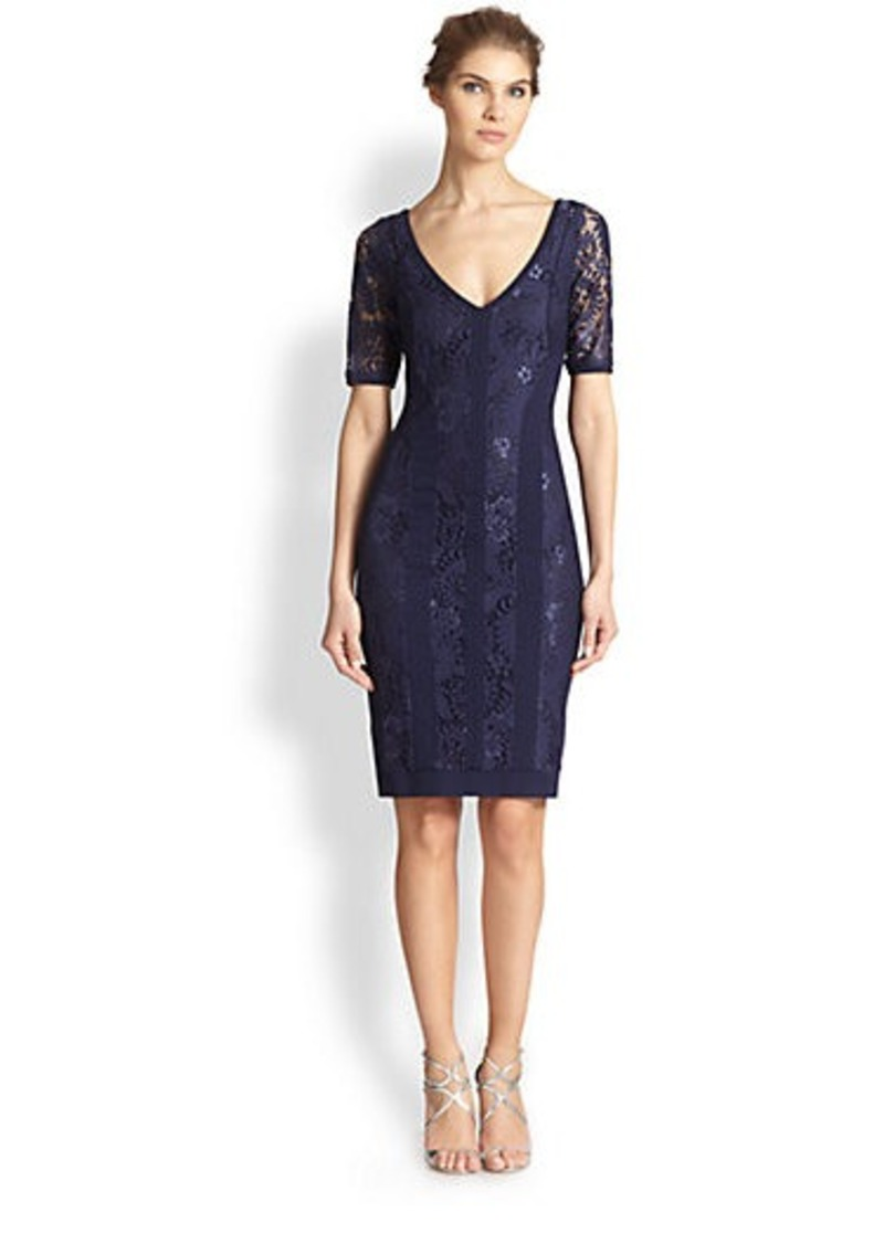 Laundry by Shelli Segal Lace & Double-Knit Dress