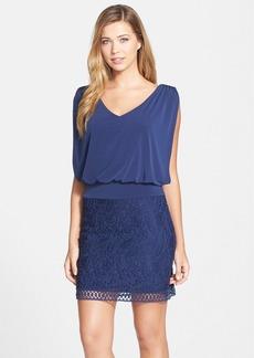 Laundry by Shelli Segal Lace & Jersey Blouson Dress