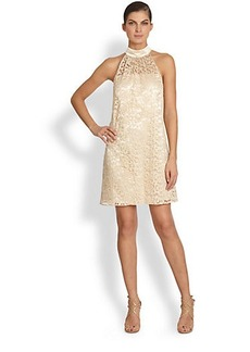 Laundry by Shelli Segal Lace & Satin Trapeze Dress