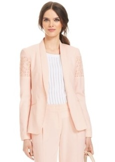 Laundry by Shelli Segal Lace-Detail Long-Sleeve Button-Front Jacket