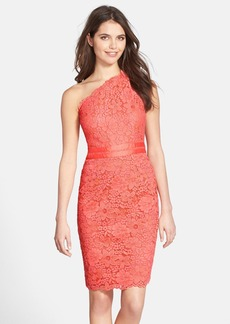 Laundry by Shelli Segal Lace One-Shoulder Sheath Dress