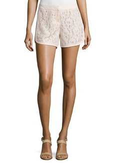 Laundry by Shelli Segal Lace-Panel Curved-Hem Shorts