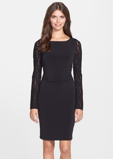 Laundry by Shelli Segal Lace Panel Jersey Sheath Dress