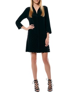 LAUNDRY BY SHELLI SEGAL Laser Cut Button-Front Dress