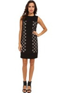 Laundry by Shelli Segal Laser Cut Ponte Dress