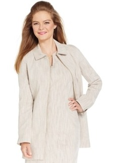 Laundry by Shelli Segal Long Linen Jacket