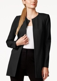 Laundry by Shelli Segal Long Ponte Open-Front Jacket